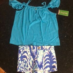 Lilly top and shorts for girl